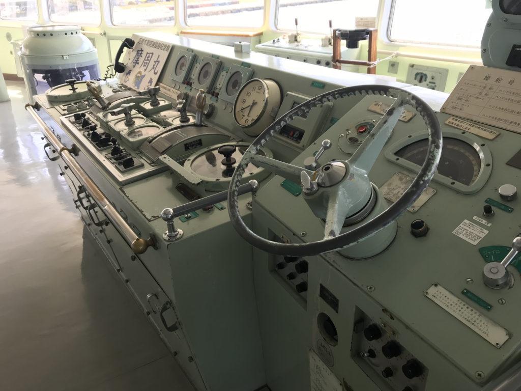 青函連絡船記念館の操舵室
