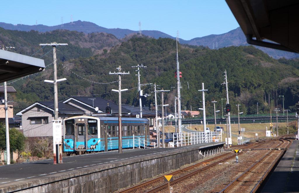 伊予大洲駅にて