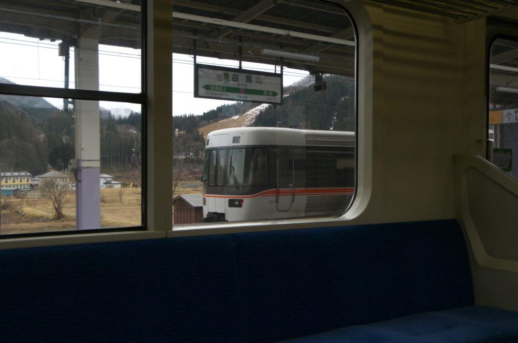 JR東海383系白馬駅にて