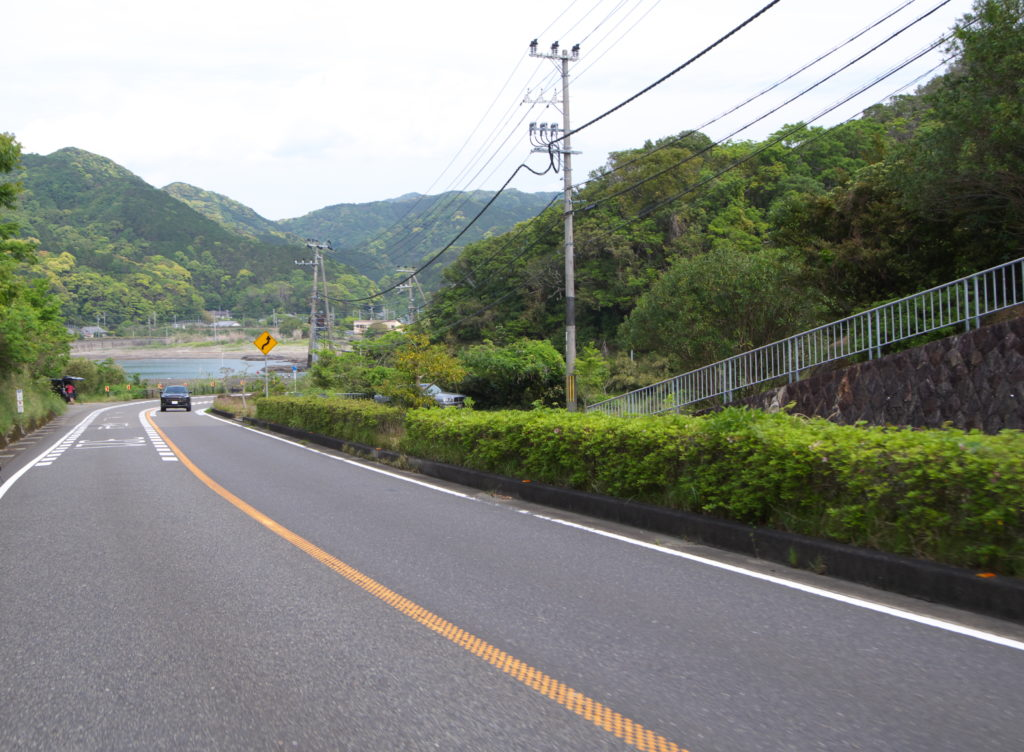 国道42号和歌山県串本町付近