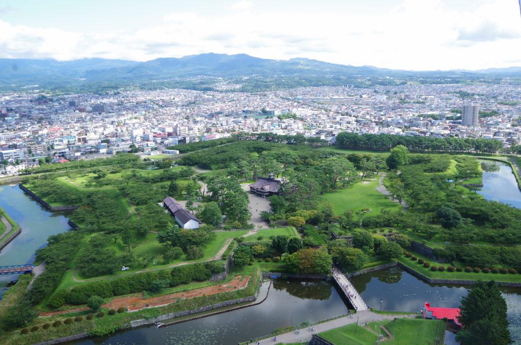 五稜郭タワーから眺める五稜郭